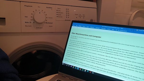 Über Waschmaschine und Computer